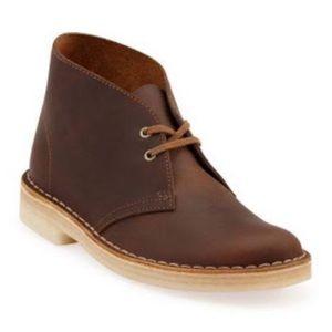 Clark's Women's Brown Leather Desert Boot, 7.5